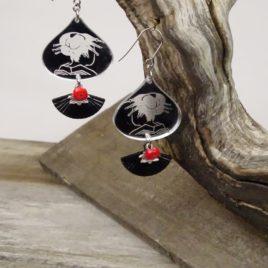Boucles d'oreilles Geisha miroir
