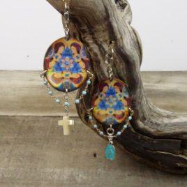 Boucles d'oreilles Vierge Marie