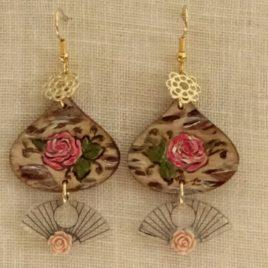 Boucles d'oreilles jolies roses