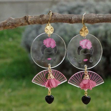 Boucles d'oreilles Frida Kahlo Lm bijoux