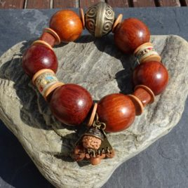 Bracelet bois de bayong et rudraksha