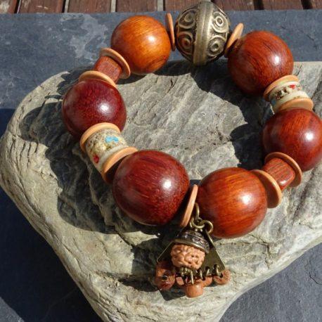 Bracelet bois de bayong et os