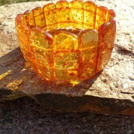 Bracelet ambre naturel de la Baltique Pièce unique