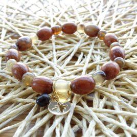 Bracelet bois de bayong et corne