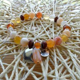 Bracelet cornaline panachée