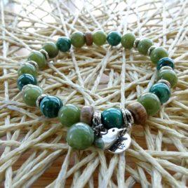 Bracelet malachite et jade